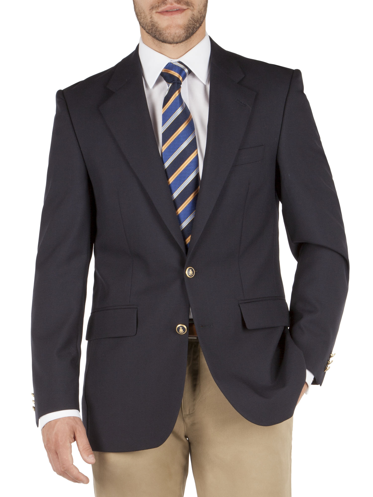 TRADITIONAL MENS NAVY BLUE SINGLE BREASTED BLAZER- currently ...
