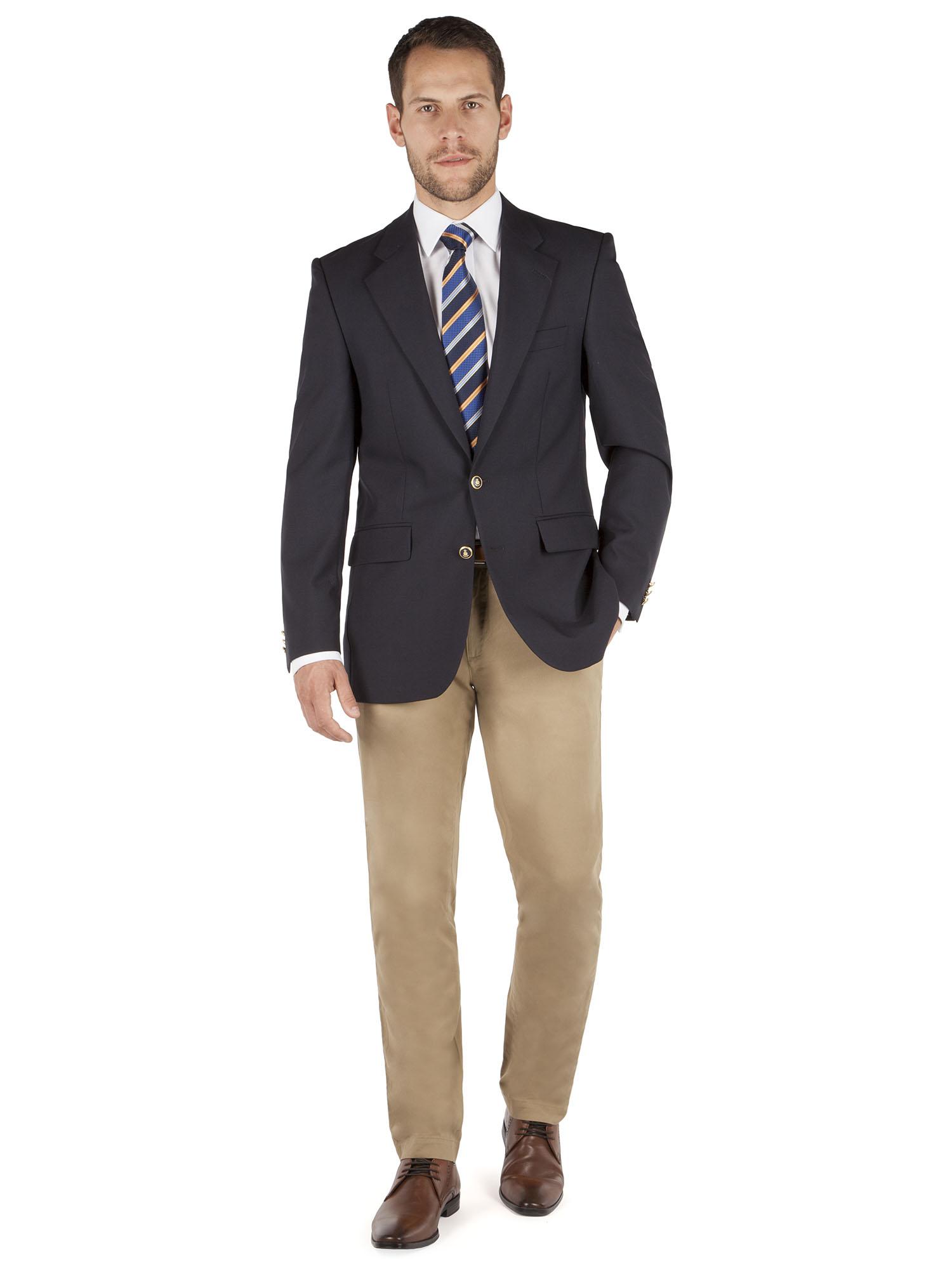 Navy Blue Mens Blazer - Trendy Clothes