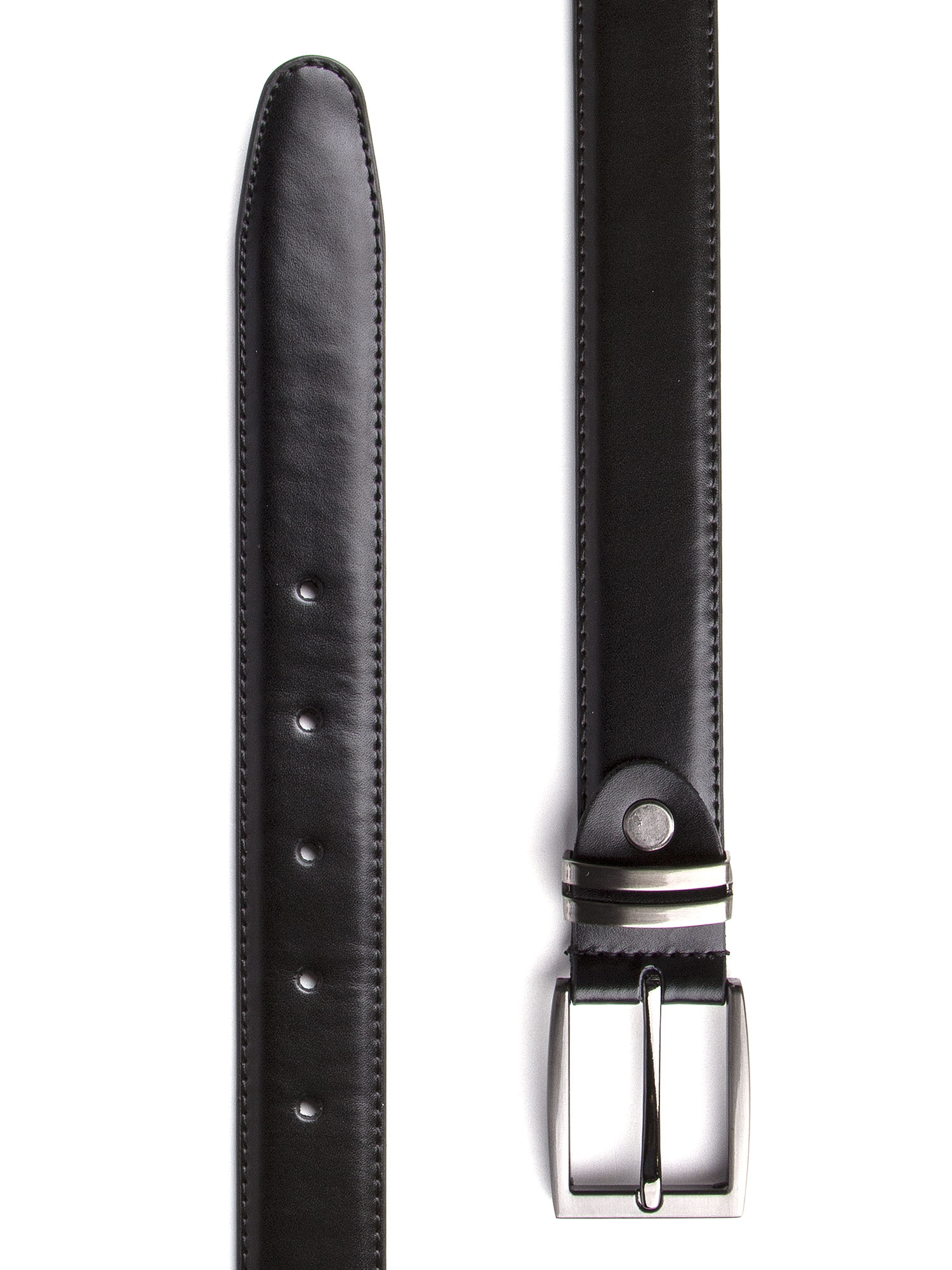 4bfd647625 MENS BLACK LEATHER BELT WITH SQUARE GUN METAL BUCKLE