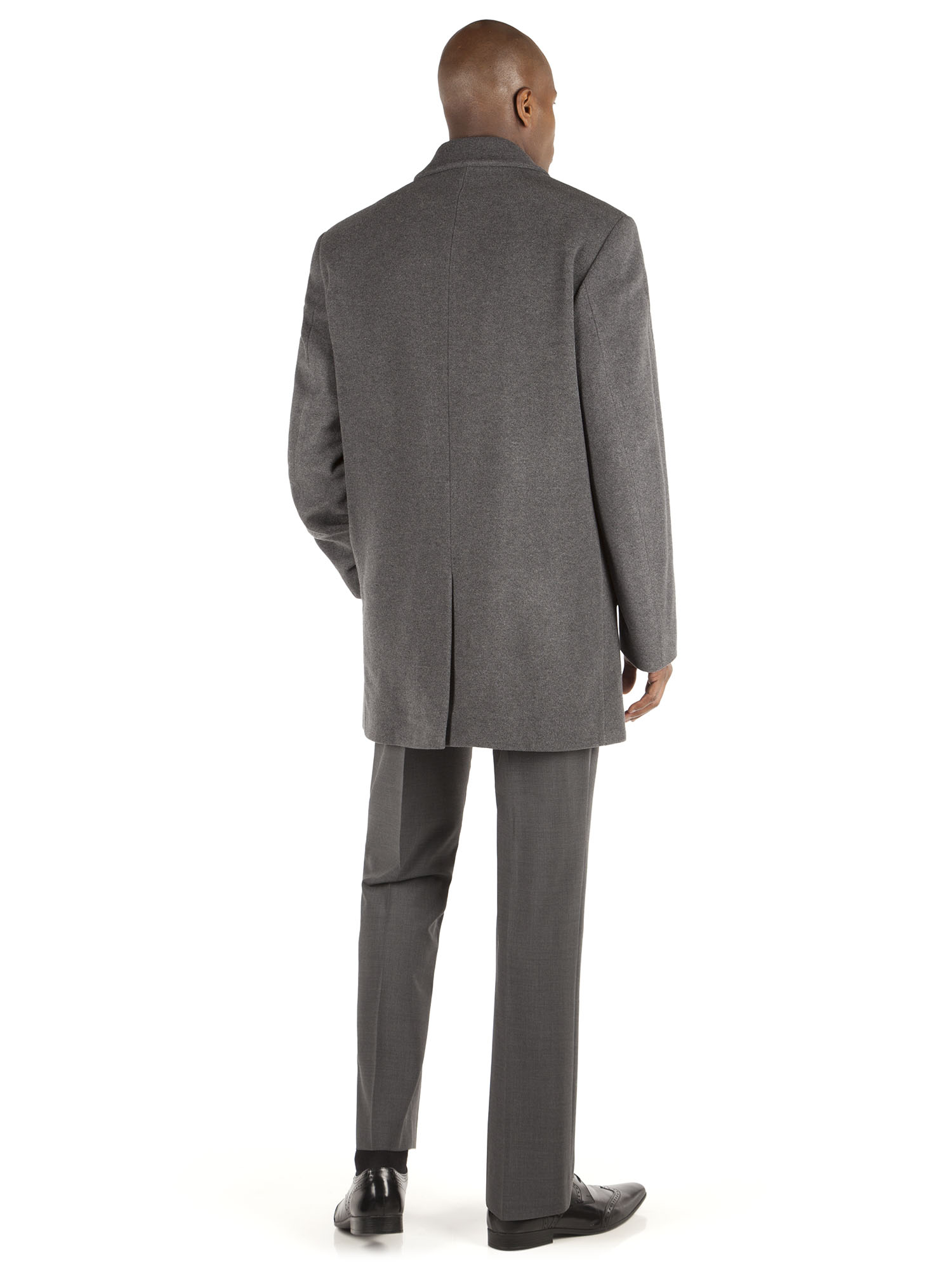 MENS MID GREY WOOL CASHMERE CAR COAT- currently unavailable ...