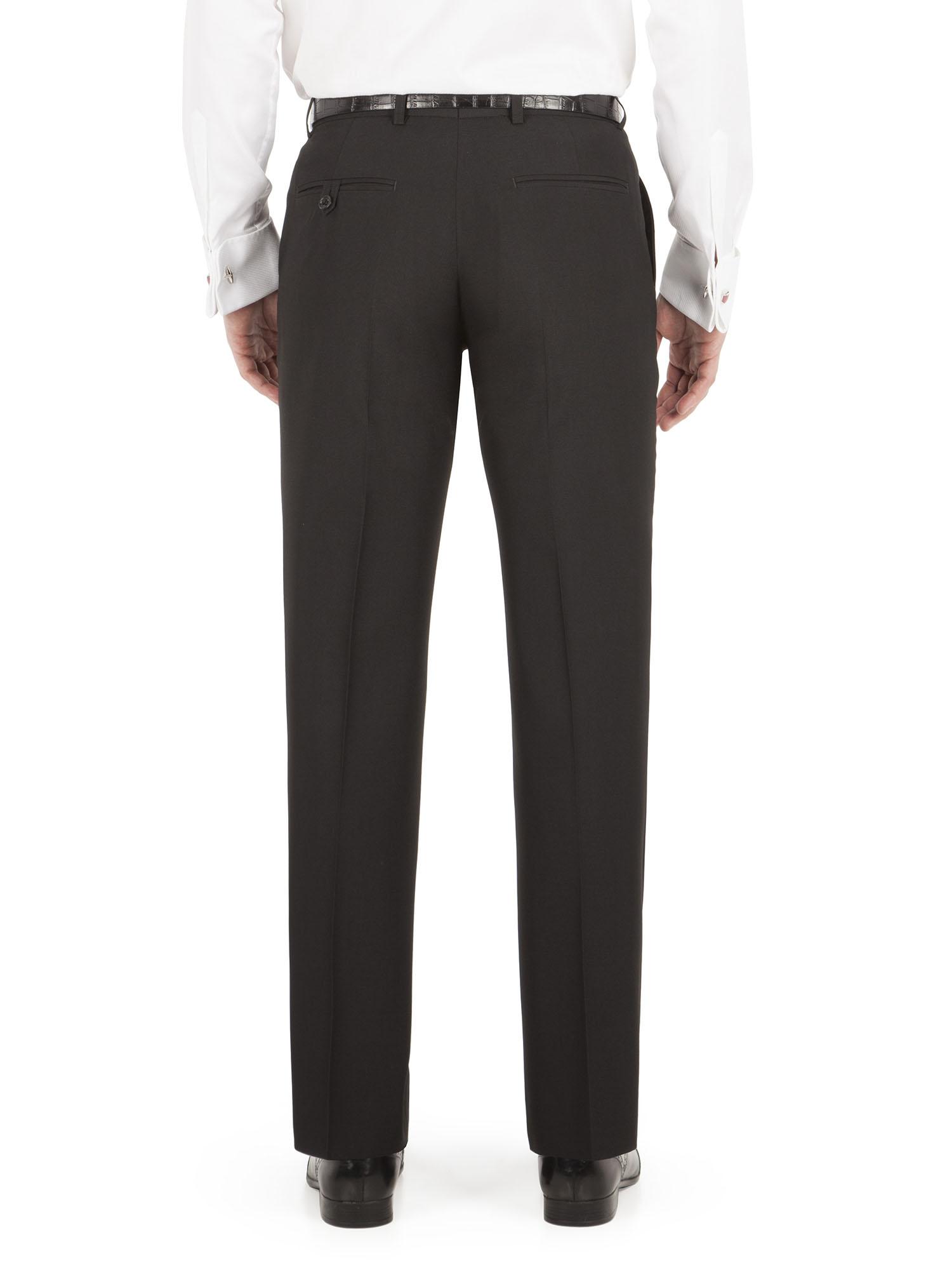 Alex 2 Button Plain Black Suit - Alexandre London - Two Piece ...