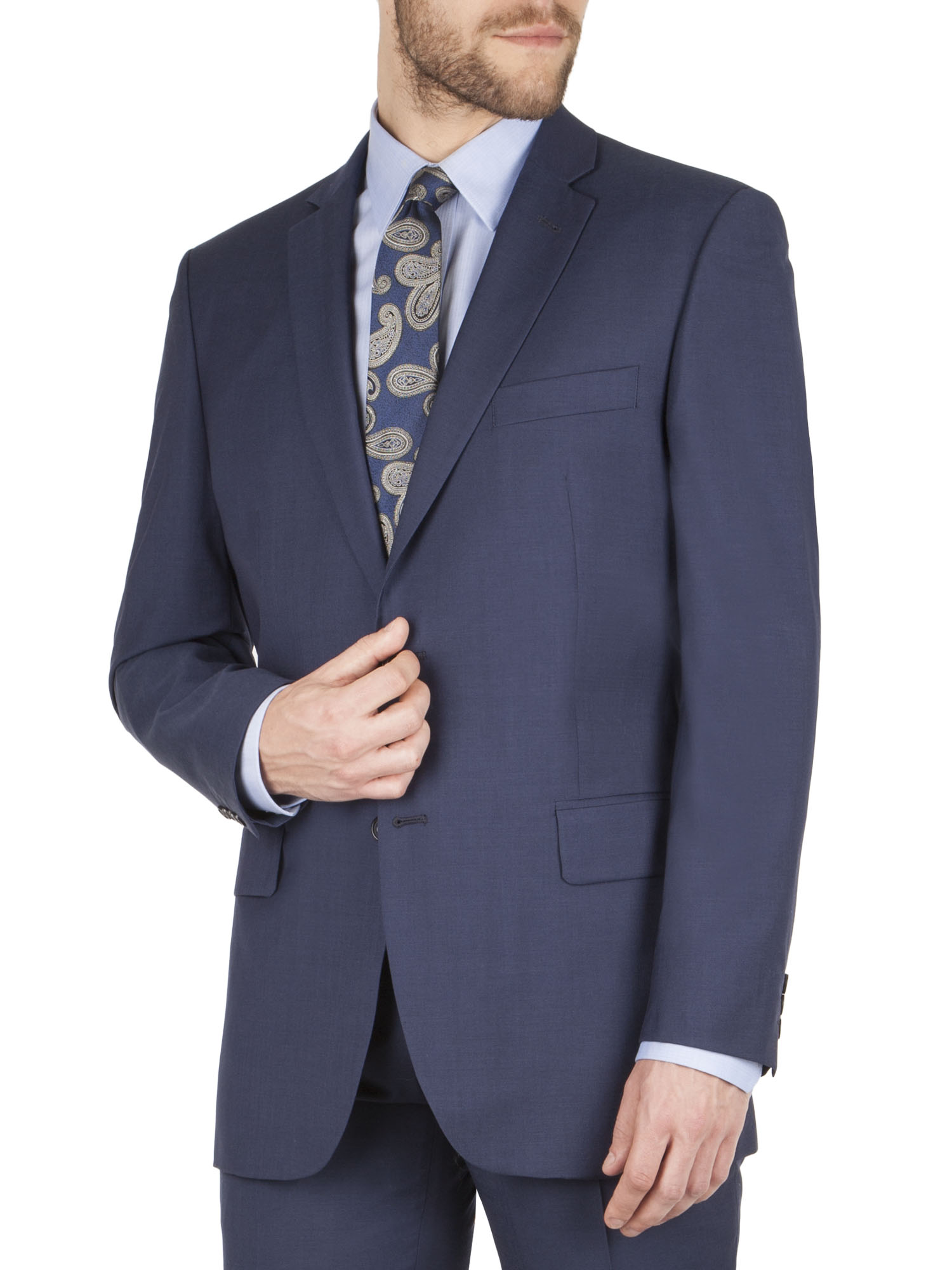 """Regular Fit Suits. A great choice for a business suit, wardrobe staple, or a """"go-to"""" for dressed-up events, the regular fit suit is a wearable and elegant option for a multitude of needs."""
