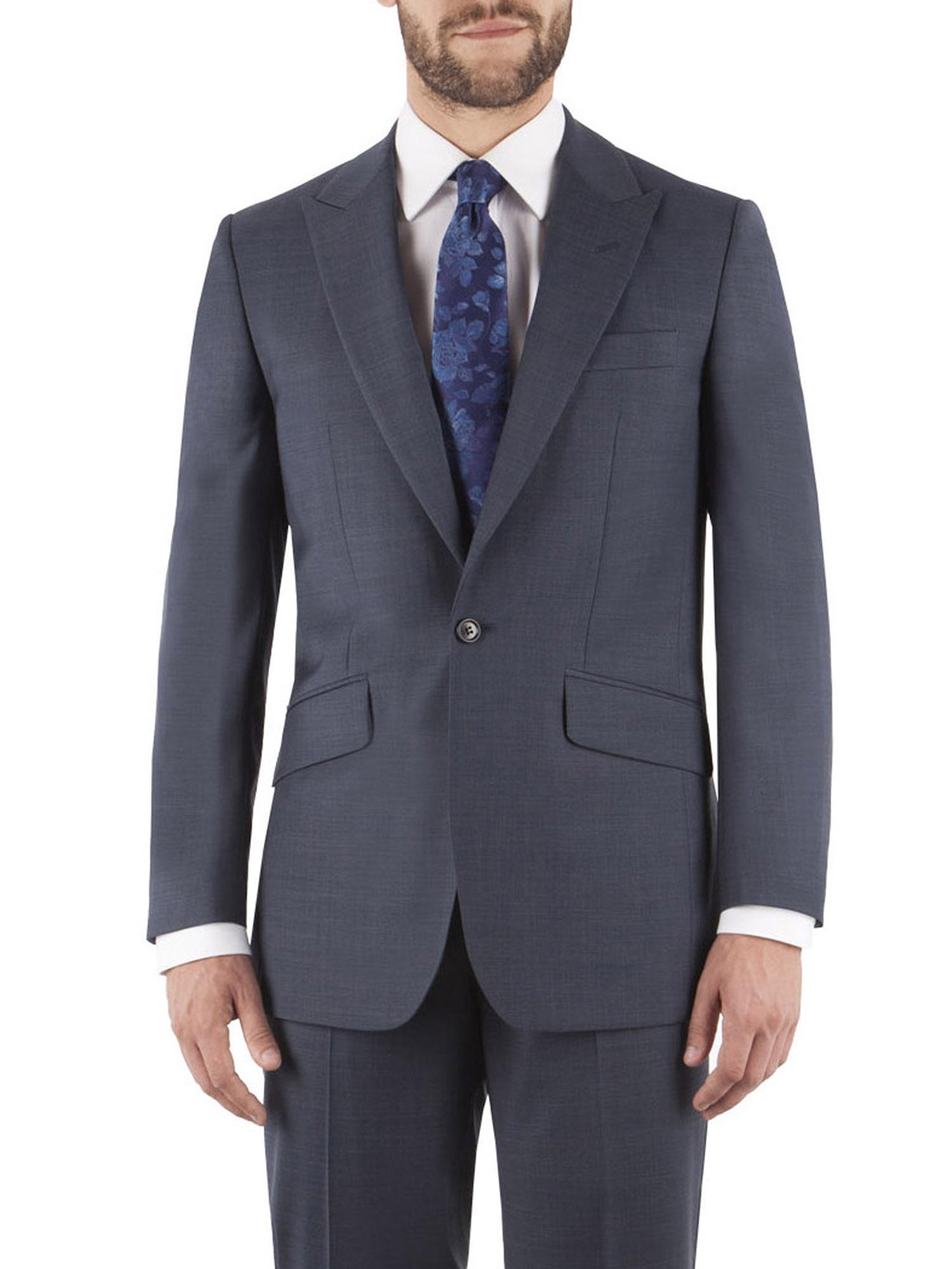 52fb4c34d910 Dark Airforce Blue Pick & Pick Tailored Fit Suit - Two Piece Suits ...